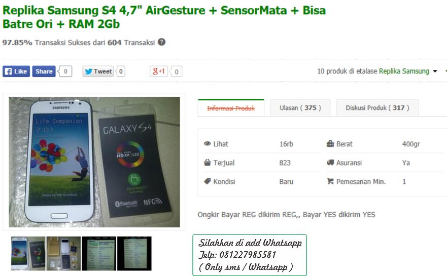 Jual Replika Samsung S4 4 7 Inci Airgesture Sensormata Bisa Batre