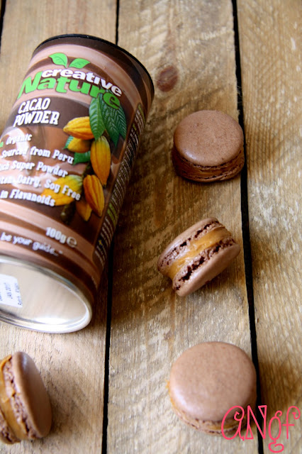 Salted Caramel Filled Cacao Macarons from Anyonita-nibbles.co.uk