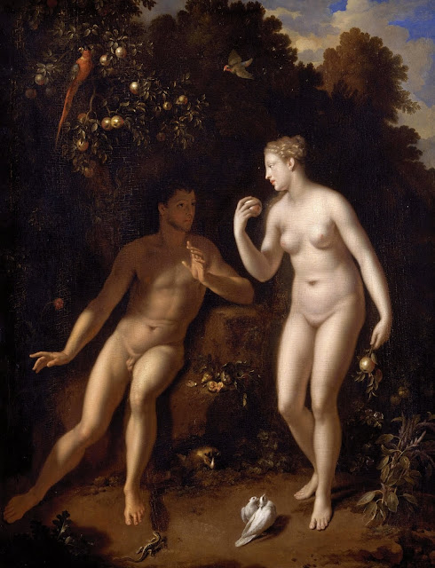 adam and eve,bible painting,5 stars