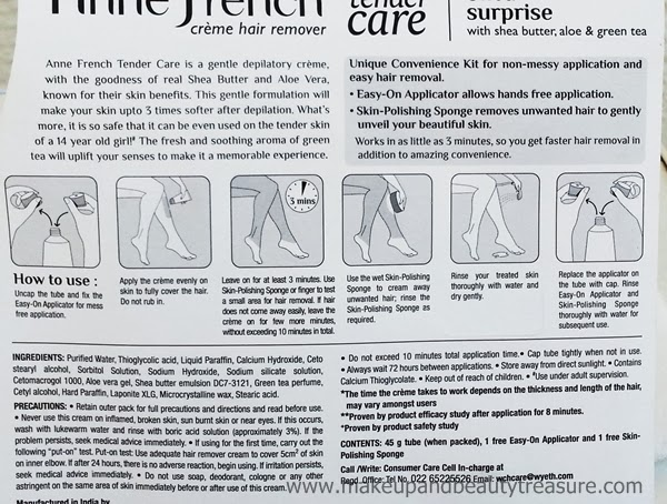 Anne French Tender Care Hair Remover Crème