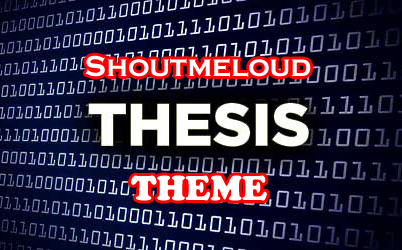 shoutmeloud thesis theme blogger