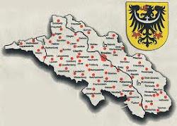 Schlesien auf der Landkarte