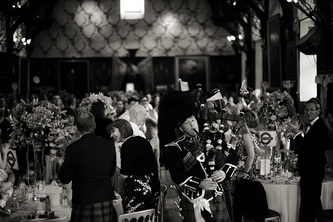 {Lillian and Leonard Wedding Photography} Blair Castle bagpiper