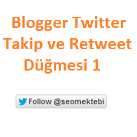 Blogger Twitter Takip ve Retweet Düğmesi 1
