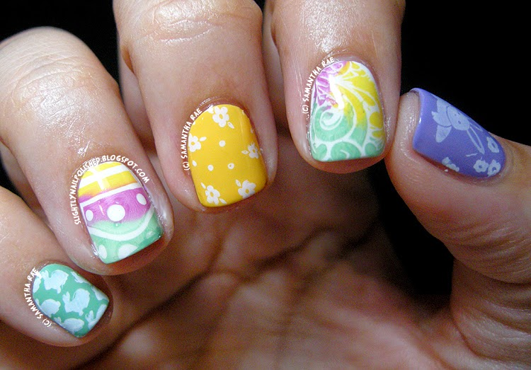 Slightly Nail Polished: Easter Colors Skittle...