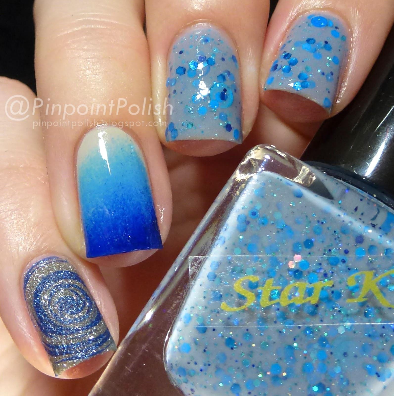 Star Kin Sunny Day Rain, swatch, Skittlette