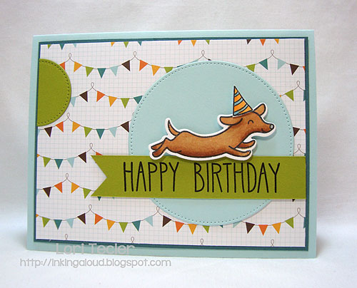 Happy Birthday-designed by Lori Tecler-Inking Aloud-stamps from Lawn Fawn