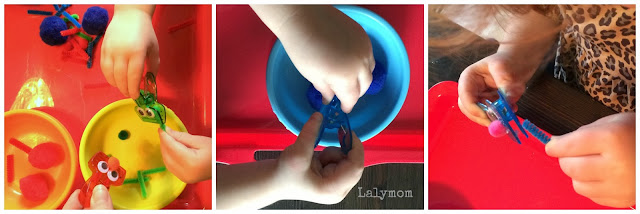 Fine Motor Game for Preschoolers Using Pinch Clips from Lalymom