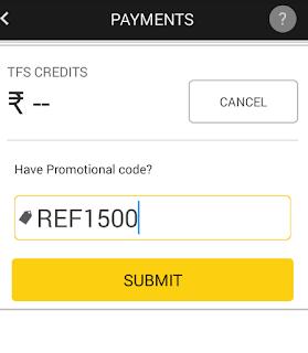 tfs free 1500rs wallet credits