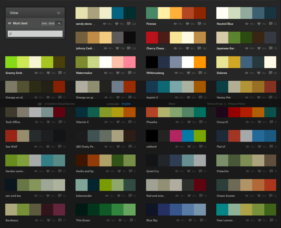color inspiration for web design
