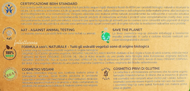 make up ecobio certificato