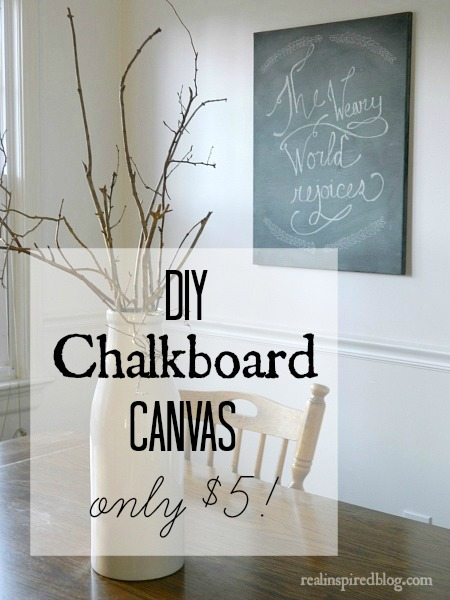 January Review {2015} DIY Chalkboard Canvas Tutorial