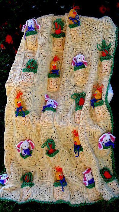 Mantas A Crochet Con Almohadones Haciendo Juego Para El Cuarto De Una
