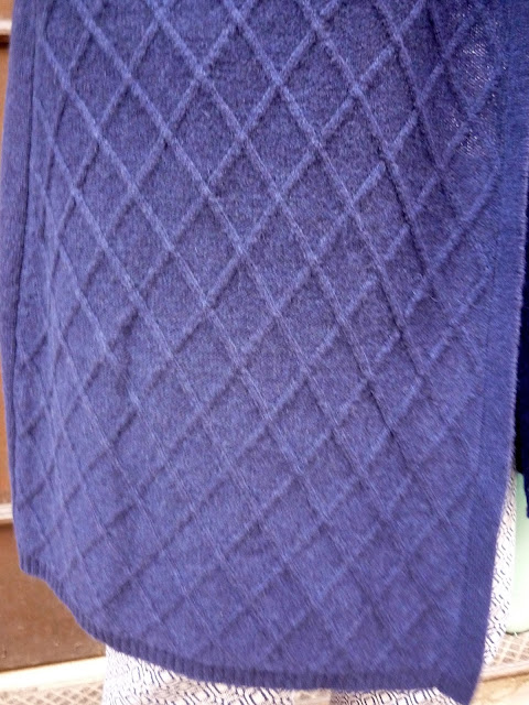 Side view of Long Line Cashmere Cardigan | Petite Silver Vixen