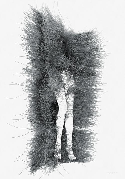 07-nogi-nogi-Janusz-Jurek-Drawings-of-Texture-Enveloping-and-Constructing-the-Body-www-designstack-co