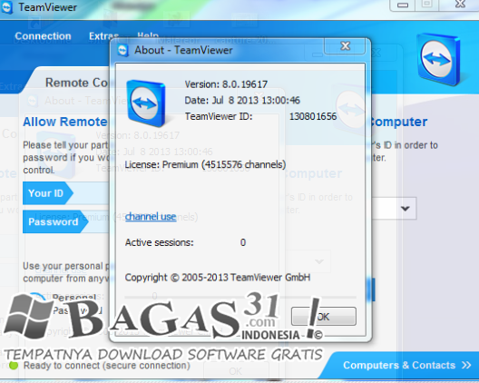 TeamViewer 8.0.19 Full Activator - BAGAS31.com