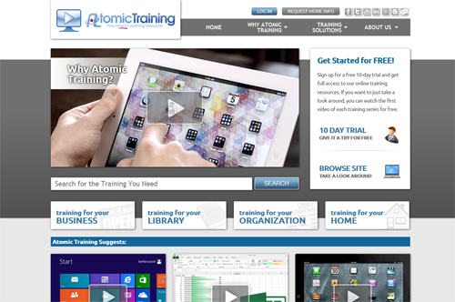 Atomic Training site screenshot