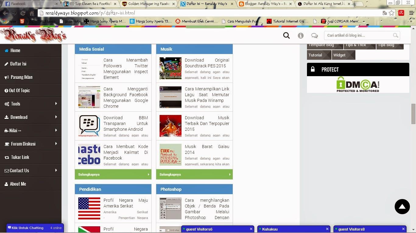 Cara Membuat Daftar Isi Blog Di Halaman Statis Ala Kang Ismet