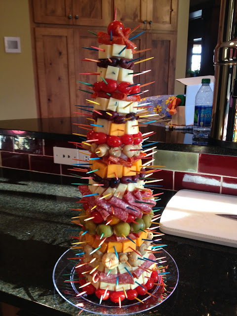 Cats on the homestead appetizer tree - Christmas tree shaped appetizers ...
