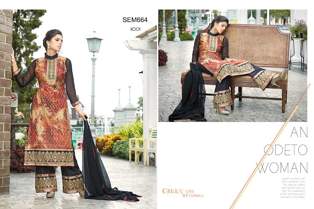 Simple Plazzo Style Fashionable Georgette Salwar Kameez