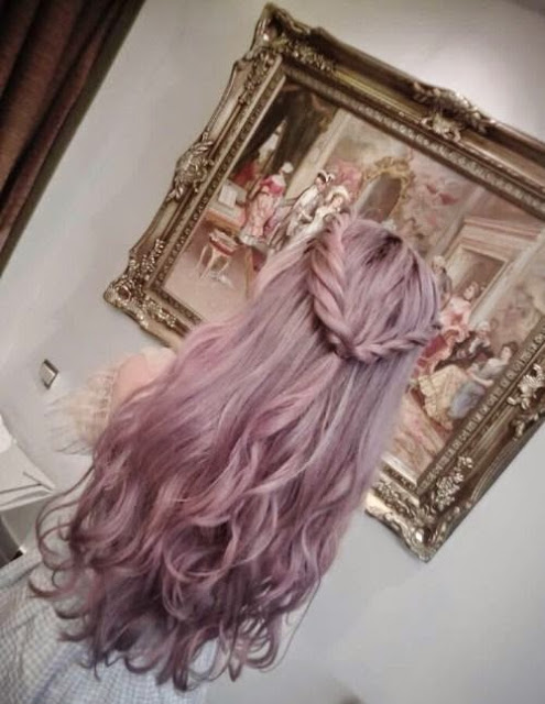 Cabelo, cosplay, Crazy and Kawaii Desu, cute, hair, Hair Rose, kawaii, Kawaii Desu, living doll, Lolita, Kawaii Hairstyle, Fantasy  color, Granny Hair, Violet pastel, Blue Hair,Talyta Leite.
