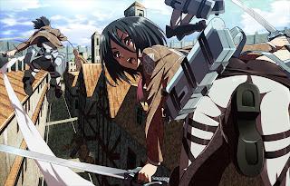 Attack on Titan Shingeki no Kyojin Mikasa Ackerman Anime Girl Blade Sword HD Wallpaper Desktop Background