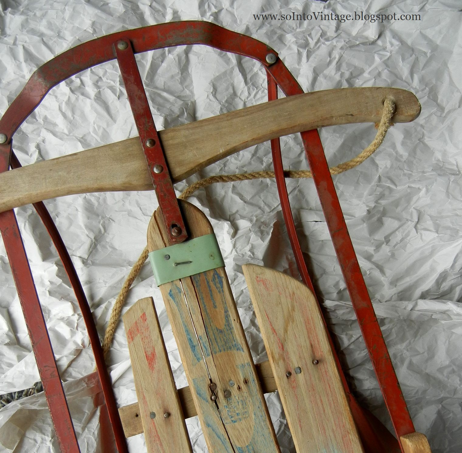 into vintage today 39 s sled brought to you by the color aqua