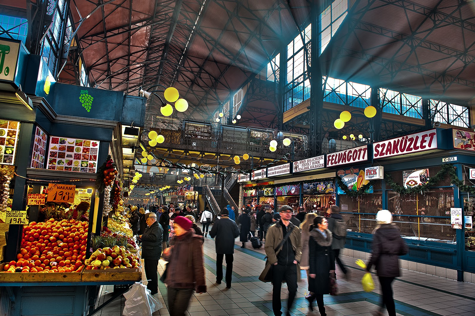 Budapest, Hungary, Great Market Hall