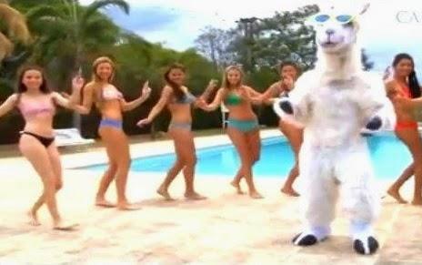 la llama que baila con chicas en bikini