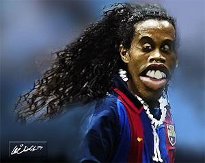 Foto Gambar Unik dan Lucu Pemain Sepak Bola
