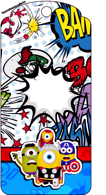 Superhero Coloring Bookmarks : Minions superheroes: free party printables. oh my fiesta! for geeks