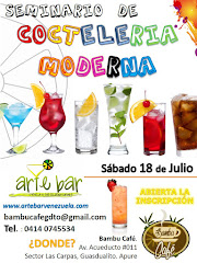 Seminario de Coctelería Moderna - 18 de Julio