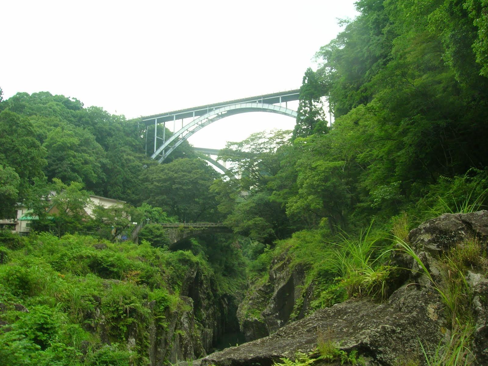 Magnificent Bridge over the gorge.