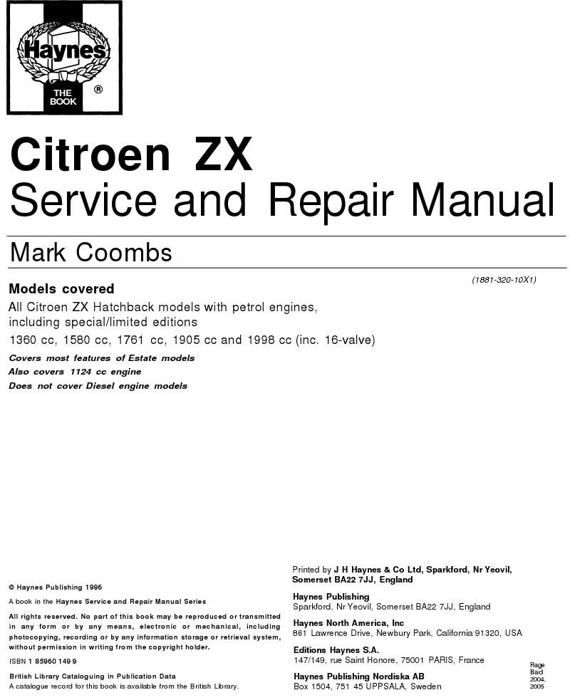 citroen manuals november 2011 Citroen CX citroen zx service manual pdf