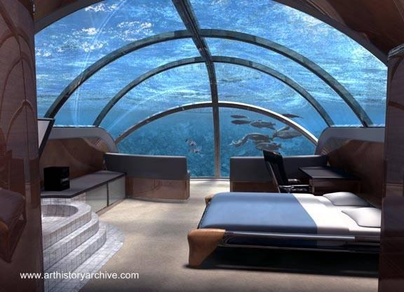 Casa submarina imagen del renderizado de un proyecto