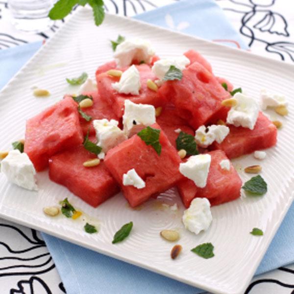 la de franceska salade de melon d 39 eau feta et. Black Bedroom Furniture Sets. Home Design Ideas