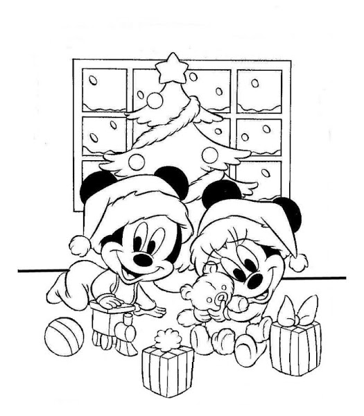 Minnie mouse en blanco y negro imagui - Minnie y mickey bebes para colorear ...