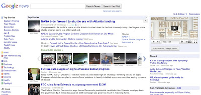 Google News: an example of incremental redesign