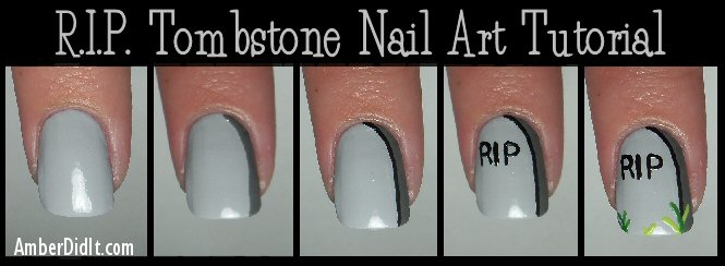 Rip Halloween Nail Art Tutorial Blogher