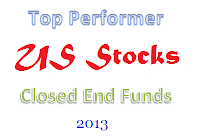 Top Performing U.S. Stock Closed End Funds 2013