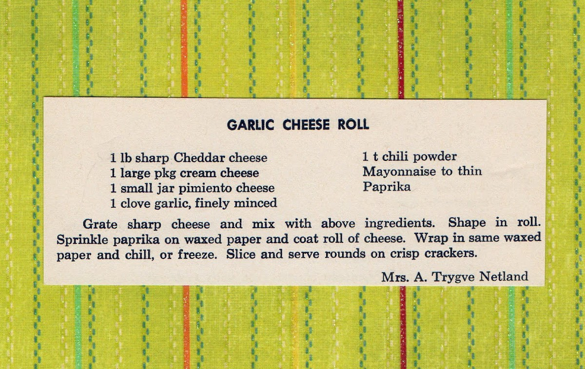Garlic Cheese Roll (quick recipe)