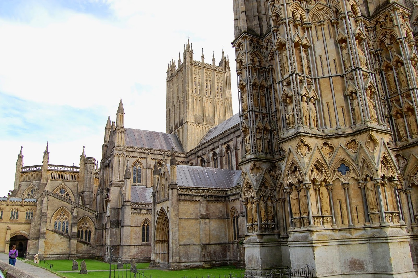 North porch and side view of Wells Cathedral