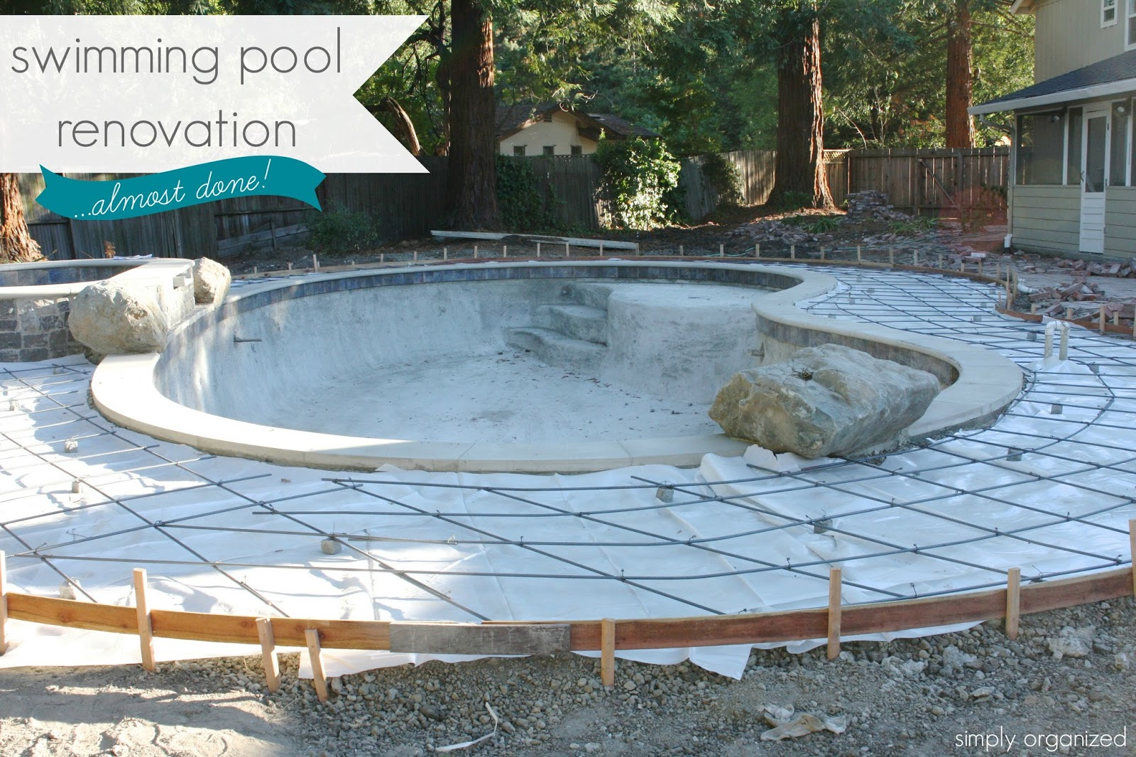 simply organized swimming pool renovation update