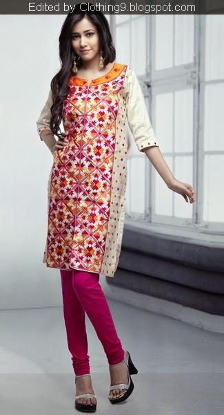 Phulkari Punjabi Kurtis Churidar Designs