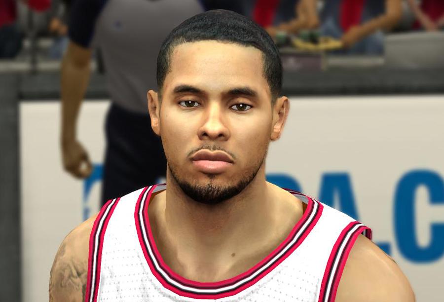 NBA 2K14 Realistic DJ Augustin Face Mod