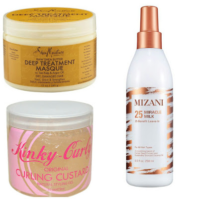 Product Review: Shea Butter Deep Treatment Masque, Kinky Curly Custard, Mizani 25 Miracle Milk