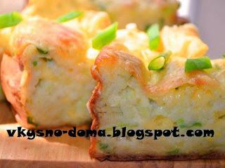 Кабачково-яичная запеканка с сыром