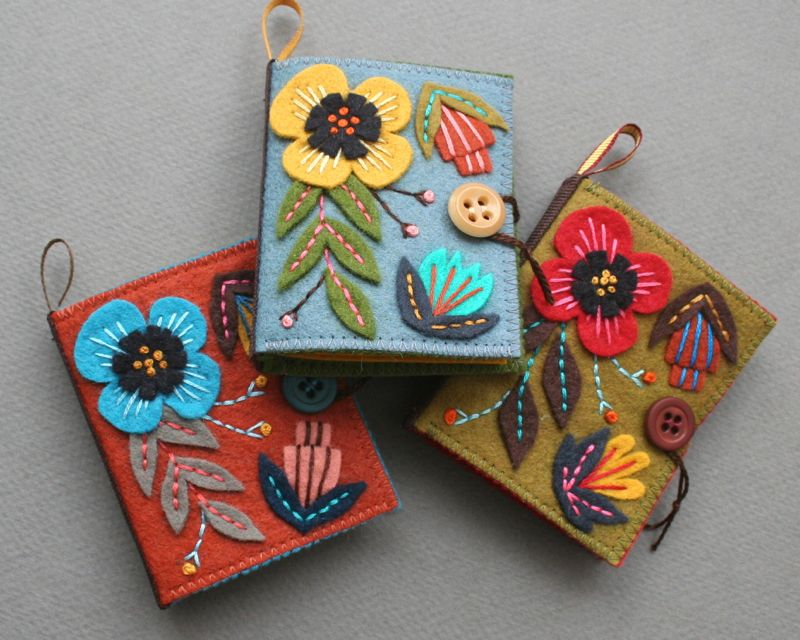 Felt Book Cover Pattern : Mmmcrafts needle books are now in the shop