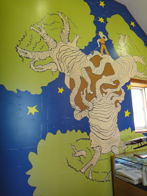 Little Prince Wall Mural at Petite France South Korea