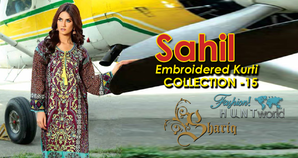 Sahil Embroidery Kurti 2015 Collection By Shariq